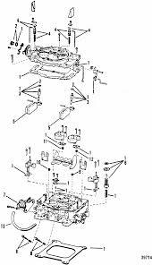 mercruiser 4 3l gen ii 2 barrel gm 262 v 6 1992 1993 engine section