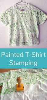 diy painted t shirt stamping
