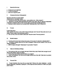 Basic Business Plan Outline Free How To Write A Business Plan With Sample Business Plans