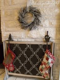 do it yourself fireplace cover you could make this a feltboard also