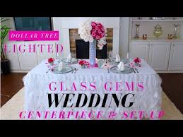 diy lighted glass gems centerpiece dollar tree wedding centerpiece diy charger plates
