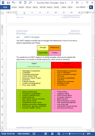 business plan templates page ms word excel spreadsheets  business plan template red theme