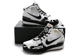 lebron vi. nike zoom lebron vi mvp white and black basketball shoe 0