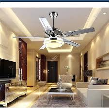 stainless steel outdoor ceiling fan led modern minimalist lamp fan stainless steel fan chandeliers living room