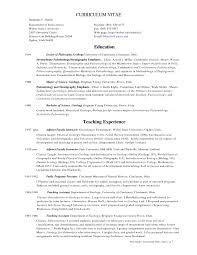 Geology Resume Examples Free Resume Templates