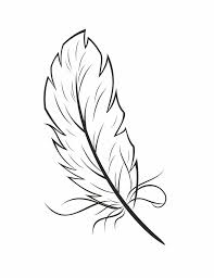 Feathers Coloring Page AZ Coloring Pages Feather Coloring Page In ...