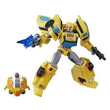 It came in three colors, yellow, red and blue. Buy Transformers Toys Cyberverse Deluxe Class Bumblebee Action Figure Sting Shot Attack Move And Build A Figure Piece For Kids Ages 6 And Up 5 Inch Toys R Us