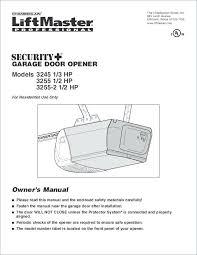 reprogramming liftmaster garage door opener garage door opener manual lovely chamberlain 1 2 hp garage door