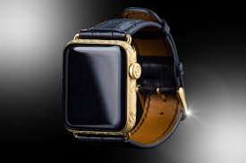 24ct Gold & Black Diamond Apple Watch SERIES 5 Edition - Stuart Hughes
