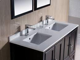 Fresca Allier 60 Wenge Brown Modern Double Sink Bathroom Vanity W Vanity Tops With Double Sink