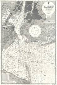 New York Harbor Nautical Chart United States East Coast New York Bay And Harbour