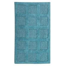 aqua 21 in x 34 in square honeycomb reversible bath rug