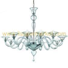 murano chandelier ca foscari 12 lights transpa glass