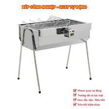 Bếp nướng than hoa TopV V5Plus, quay tự động, lò quay vịt, lò nướng than,  bếp nướng ngoài trời, bếp nướng tự xoay