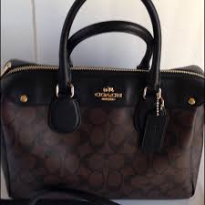 Coach Bennett Signature Satchel Handbag