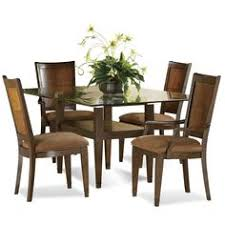 dining room contemporary 5 piece dining set design with plant above the transpa gl surface of round gl kitchen table