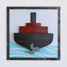 3d ship decor nautical wall art wood ship wall art steamship wall decor
