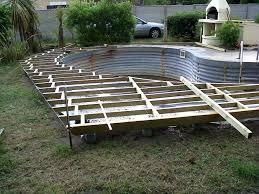 Nivrem Com Construire Une Terrasse En Bois Autour De La Piscine