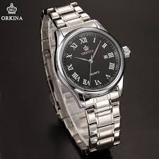aliexpress com buy fantastic elegant date display mens quartz aliexpress com buy fantastic elegant date display mens quartz watch orkina masterpiece steel chain men wristwatch gift box from reliable chain