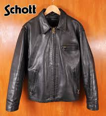 made in usa schott shot tracker jacket with leather jackets liner vest black leather cowhide 40 mens m equivalent