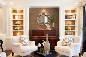 robeson design living room with painted built in storage solutions transitional living room built living room
