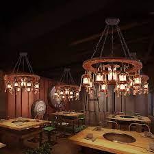 light led hanging lantern country metal