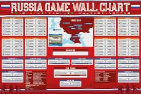 2018 World Cup Wall Chart Fifa World Cup 2018 Russia Tournament Wall Chart Fill In