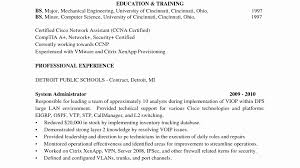 Sample Resume For Network Engineer Best Sample Puter Systems