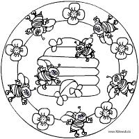 Bienenstock Mandala Kleurplaten En Tekenen Bienen Bienen Bilder