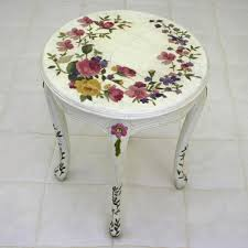 floral decoupage furniture. Louis XV Decoupage Side Table Floral Furniture T