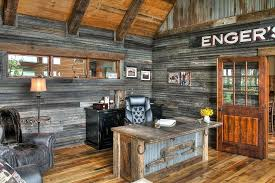 rustic office. Rustic Home Offices Reclaimed Metal And Wood Combine Effectively In The Office Design Lands D
