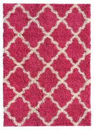 pink bedroom rugs contemporary soft shag area rug x moroccan trellis pink ivory shaggy rug contempora