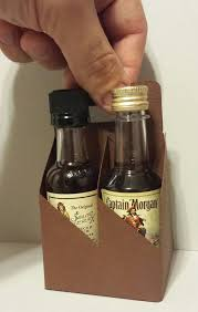 mini liquor bottle holder 4 pack carrier by gopartypeople on etsy
