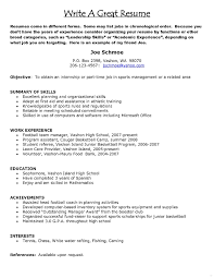 How Build Good Resume Make Proper Resumes Example Best Template