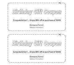 Free Printable Holiday Gift Certificates Mesmerizing Blank Coupon Template Printable Free Birthday Coupons Templates Gift