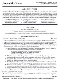 Accountant Resume Interesting Best Resume Template Accountant