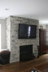 Ledge Stone Dry Stack Stone Fireplaces traditional-family-room