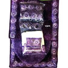 pink purple fl rugs shower curtain and towel set bath sets luxury bathroom rug purpl