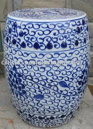wryly03 blue and white fl ceramic garden stool jingdezhen shengjiang ceramic co ltd jingdezhen hand painted ceramics porcelain