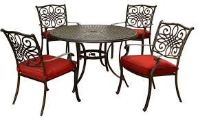 traditions 5 piece dining set red with
