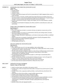 Public Health Resume Sample Health Communications Specialist Resume Samples Velvet Jobs 10