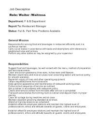 Hostess Job Resume Resume Waitress Hostess Job Description On Resumes Gallery Portrayal