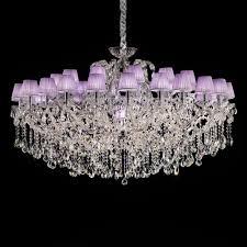 large lilac swarovski crystal glass chandelier