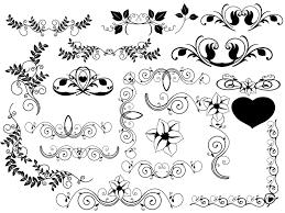 葉っぱ花つるのイラストがかわいいフローリッシュな飾り枠飾り罫