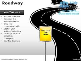 road map powerpoint template free download editable road map power point slides and road map