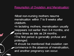 ... When Will My Period Resume After Birth by Normal Postparutm Period Ppt  ...
