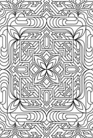 Small Picture Geometric Design Colouring Pictures Stained Glass Colouring Pages