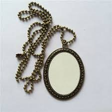 necklaces pendants for sublimation retro women oval shaped necklace pendant for thermal transfer printing diy