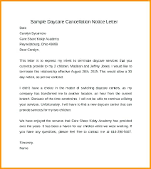 Sample Letter For Termination Of Child Care Services Daycare Notice