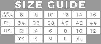 Aus To Us Size Chart Size Chart Moonrock Online Shop